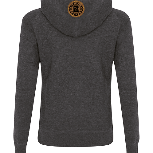 CMHA Funnel Neck Hoodie with Leather Patch