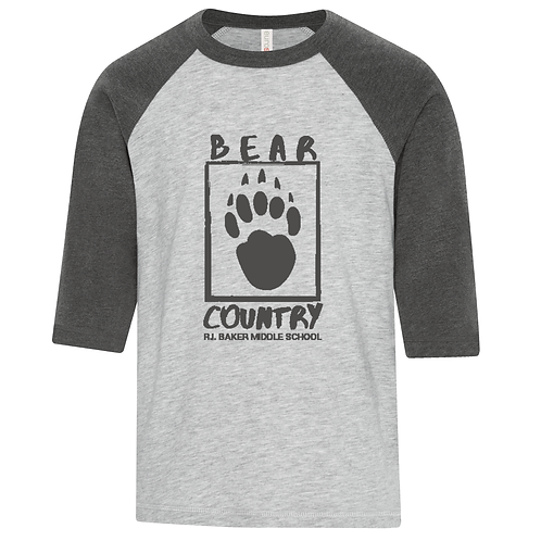Youth BEAR COUNTRY Logo Baseball Tshirt ATC0822Y