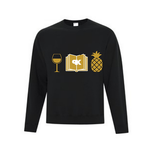Wine, Books & Pineapple Knockers Crewneck