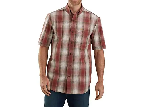 Carhartt Mens Short Sleeve button down plaid 104174
