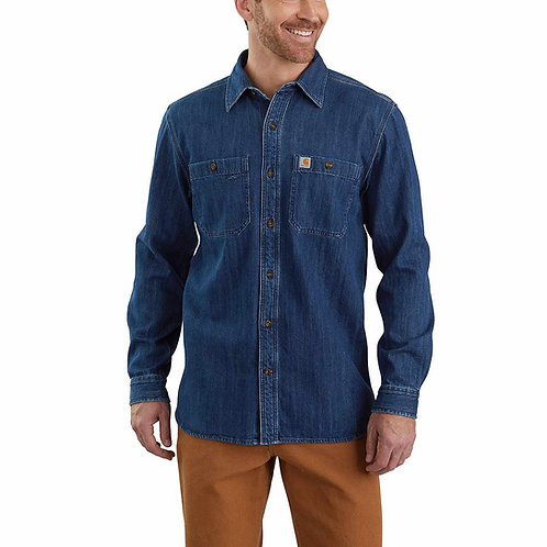 Carhartt Mens Denim Long Sleeve Shirt 104145