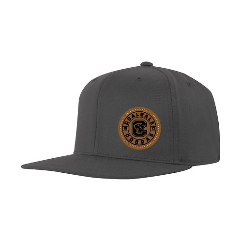 CMHA Flat brim with Leather Patch