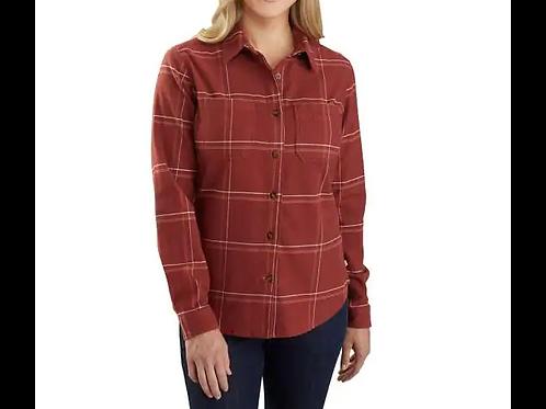 Carhartt Womens Rugged Flex relaxed fit flannel plaid shirt 104516