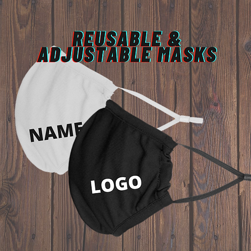 Reusable & Adjustable Polyester Masks
