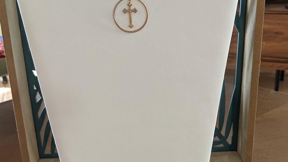 Ras du cou doré avec sa Croix en Plaqué Or