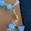 Thumbnail: Bracelet avec Apatite et strass +strass de Swarovski