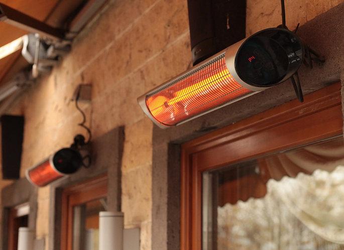 IP55 - DIŞ MEKAN SU KORUMALI Kumandalı Duvar / Tavan Tipi Infrared Isıtıcı 2500