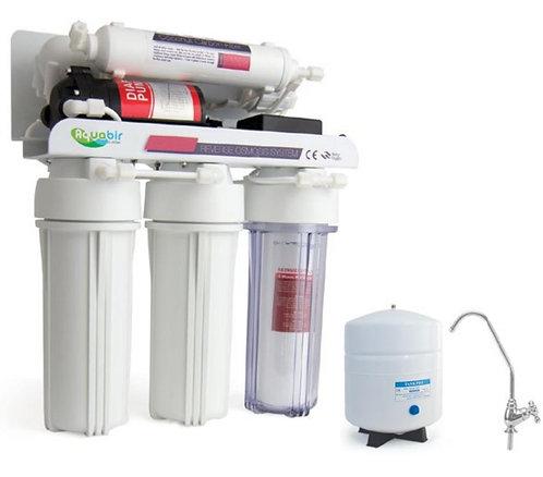 AQUABIR 5AWP POMPALI Evsel Tezgah Altı Ters Ozmoz Su Arıtma Cihazı