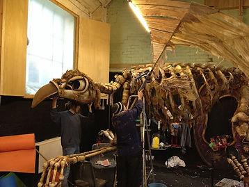 The Fetch Theatre - skeleton bird