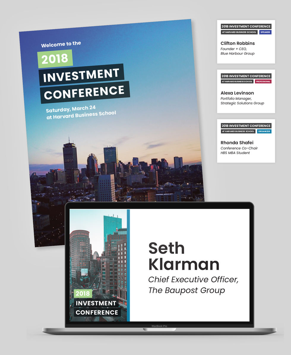 Investment Conference collateral
