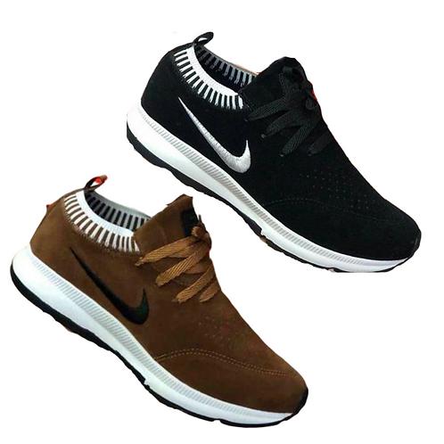 Kit 2 pares Nike Meia: Café + Preto