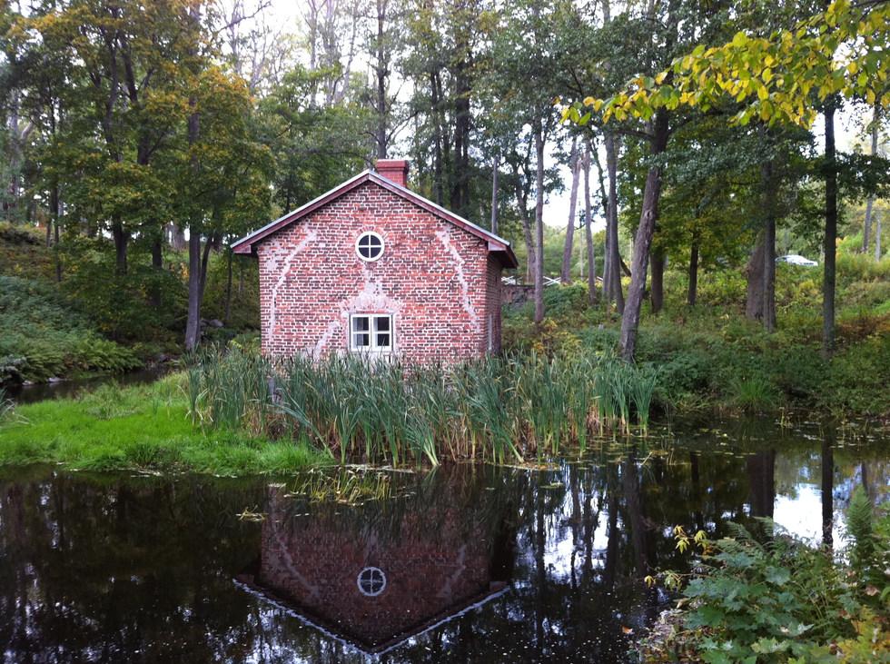 House by a pond