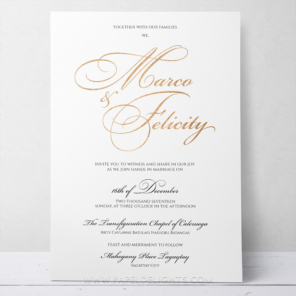 Papeldelights   Invitations, Stationery, Decor   Felicity Classic ...