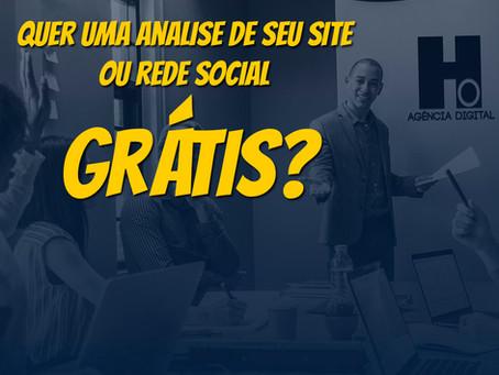 Quer uma analise grátis de seu site ou rede social?