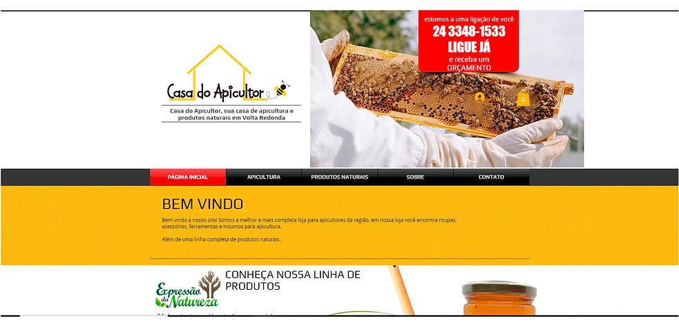 site casa do apicultor, tudo para apicultura em volta redonda