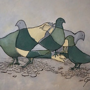 """Pigeons sur la """"Main"""" (2018)"""