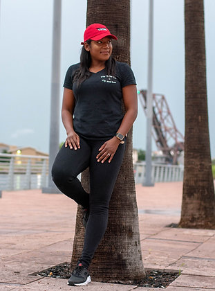 Womens Fly and Free Basic Tee - Black