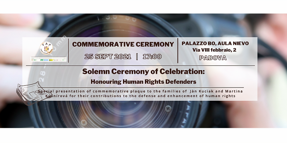 Solemn Ceremony: Honouring Human Rights Defenders
