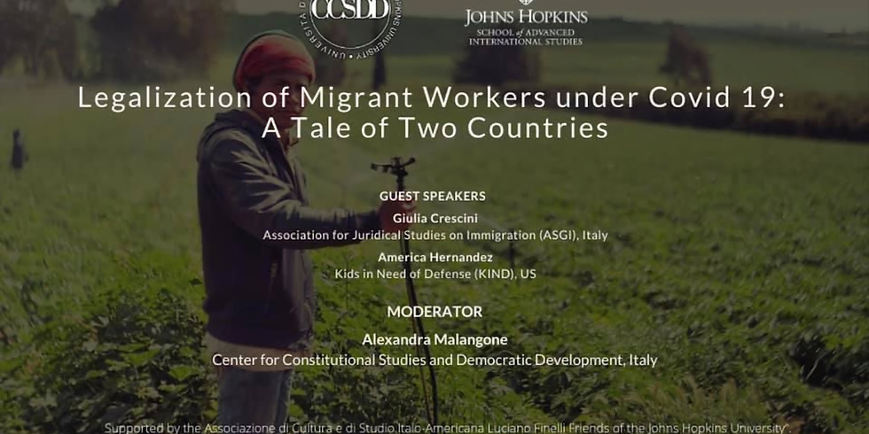 WEBINAR: Legalization of Migrant Workers under Covid 19: A Tale of Two Countries
