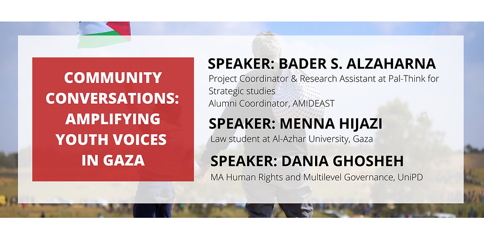 Amplifying youth voices in Gaza