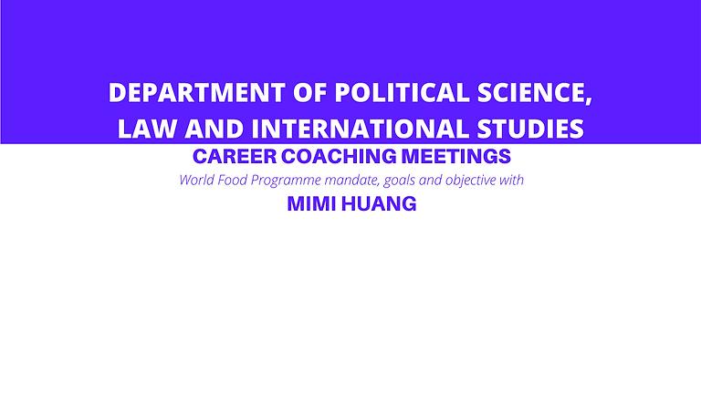 SPGI Career Coaching Meetings with Mimi Huang