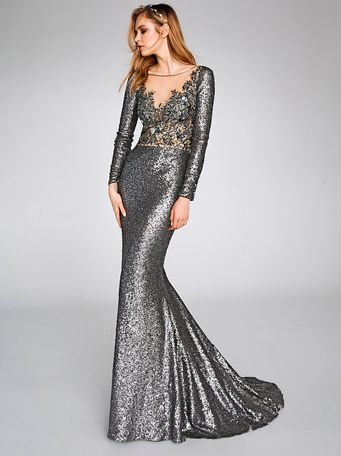 San Patrick Cocktail Evening Gown 8369 front view
