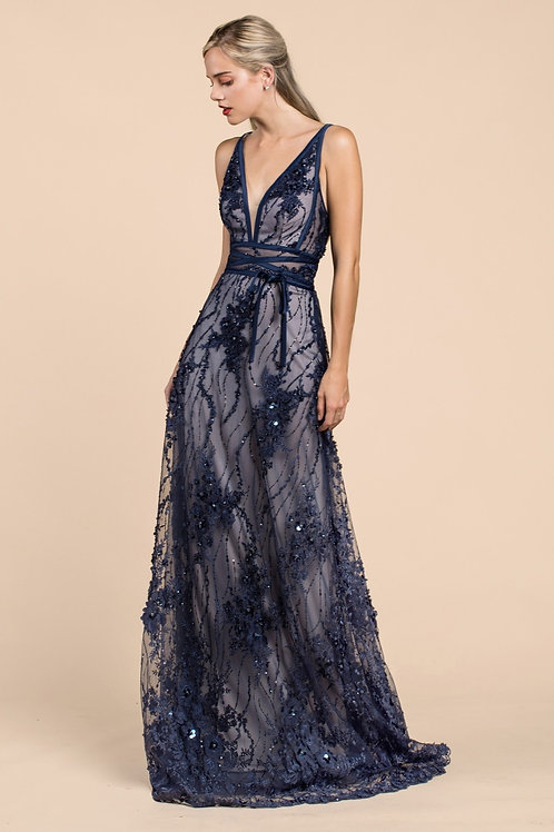 Andrea & Leo A464 Evening Gown Front View
