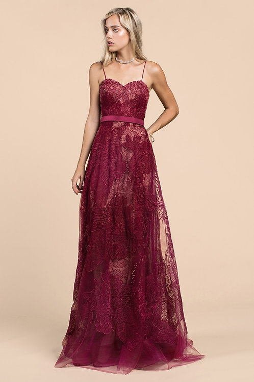Andrea & Leo A435 Evening Gown Front View