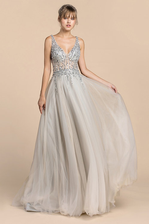 Andrea & Leo A391 Evening Gown Front View