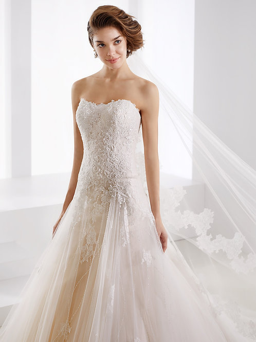 Nicole Suppose Wedding Dress JOAB 19468 close view