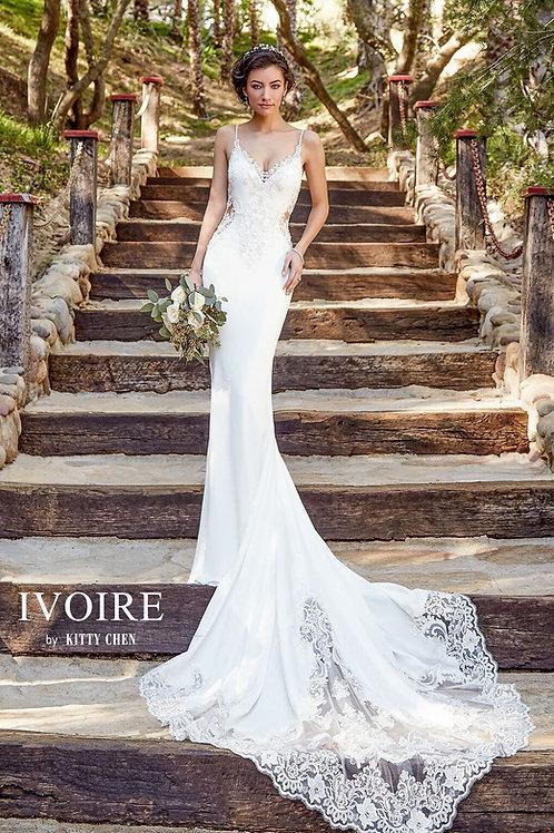 Kitty Chen Ivoire Wedding Dress Zeta front view