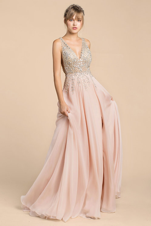 Andrea & Leo A481 Evening Gown Front View
