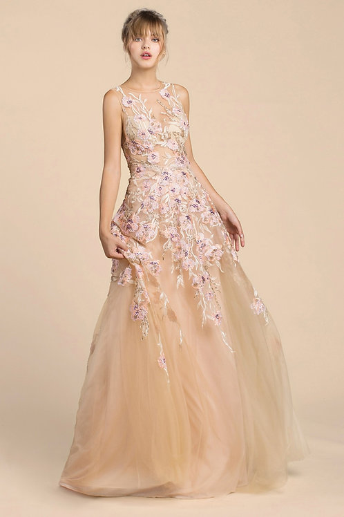 Andrea & Leo A461 Evening Gown Front View