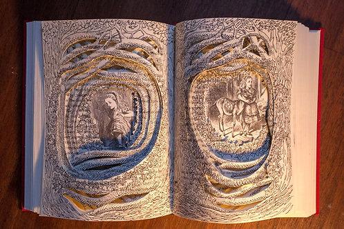 Alice Original Book Sculpture by Sarajane
