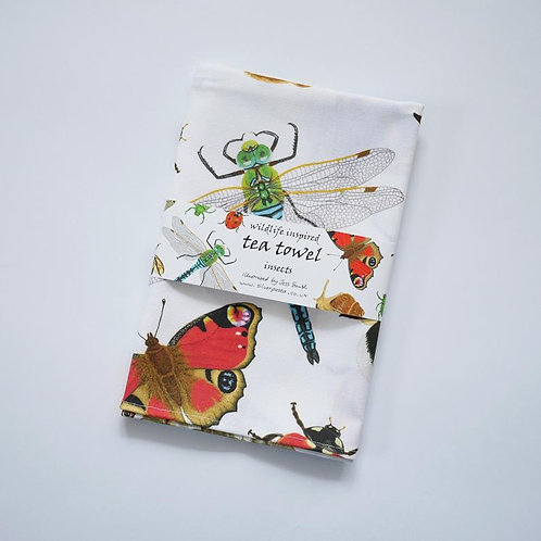 British Insect Cotton Tea Towel