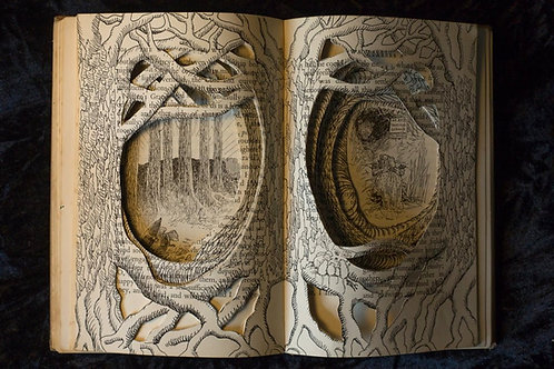 Wind In The Willows,  Original Book Sculpture by Sarajane