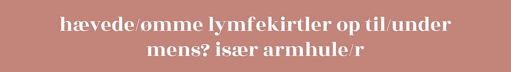 Hævede lymfekirtler under armen