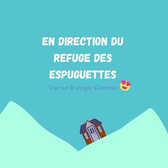 En direction du refuge des Espuguettes