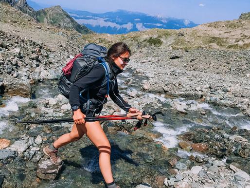 S'entrainer pour une sortie en montagne.