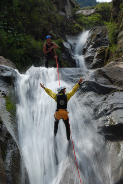 Canyoning in Banos Ecuador