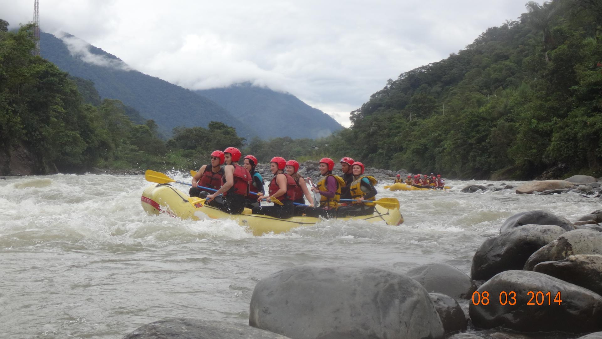 Rafting in Pastaza River