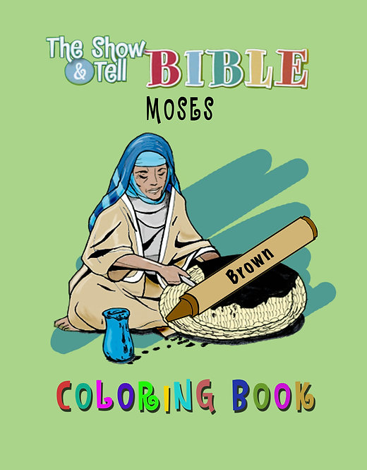 Moses - Digital Coloring Book