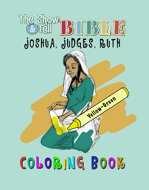 Joshua, Judges, Ruth - Digital Coloring Book