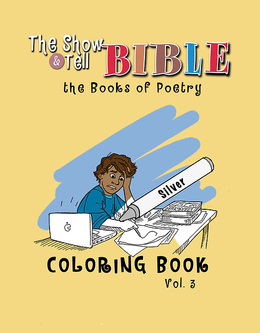 The Books of Poetry - Digital Coloring Book