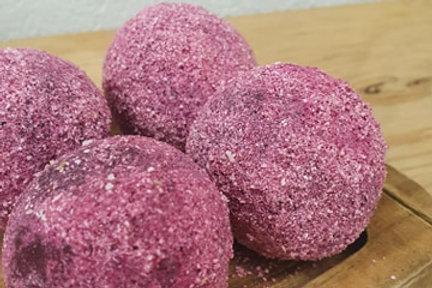 Raspberry Lemon Coconut Protein Ball