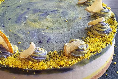 Vanilla Blueberry Lemon ZEBRA Cake