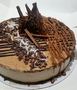 What a beauty 😀😋😍💜_Totally raw vegan choc cononut mudslide salted caramel 'cheese'cake _Special