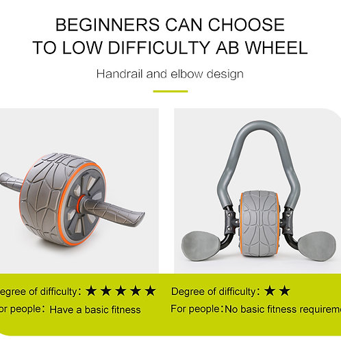 AB wheel with full arm elbow support