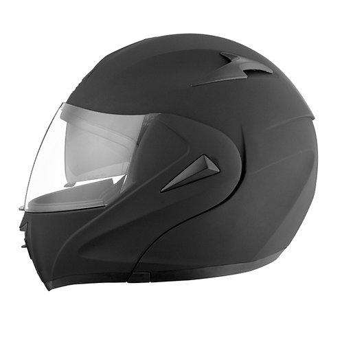 DOT Certified Full front open  black helmet