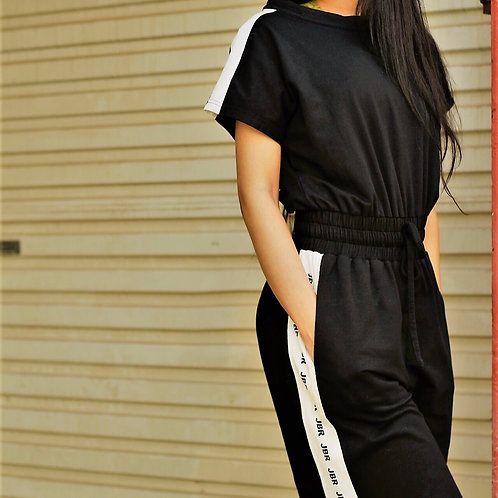 Sporty girl jump suit,